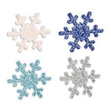 Clubgreen 12 Self Adhesive Stick On Glitter Christmas Snowflakes Craft Stickers