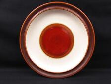 Potter's Wheel Rust Red by Denby Dinner Plate Rust Red Center Brown Rim L208