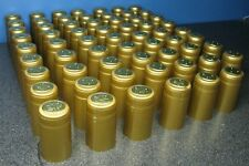 SHRINK CAPSULES 25 LARGE NUGGET GOLD WINERY QUALITY PVC HEAT FOR WINE BOTTLES
