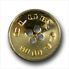 10 goldfarbene sportliche Metallknöpfe (3088go-20mm)