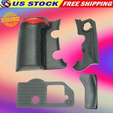 NIKON Camera D300S 4 Peices Front/ Rear/ Grip Rubber Set + Tape Repair Parts