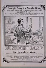 1903 Imprimé Annonce Annonce Savon Sunlight Levier Bros