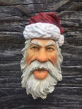 Santa Wood Carving Wizard Big Ooak Red Hat Elf Ooak Scott Longpre Originals #4