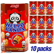 MEIJI Hello Panda Chocolate Biscuits Filling 50g x 10 pack