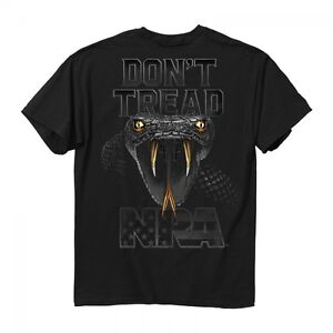 NRA Don't Tread On Me T-Shirt, Buck Wear Patriotic Men's