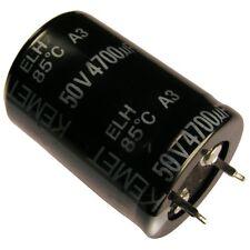 Kondensator KEMET ELH Elko 4700uF 50V 25x35mm 2 Pin Snap-in 85°C RM10 854365