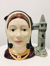"""Vintage Royal Doulton Catherine Of Aragon Character Large Toby Jug 7"""" D6643"""