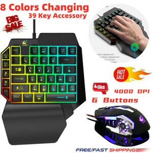 One-Handed Mechanical Keyboard Left Hand Game Keypad for Game LOL/PUBG/ Fortnite
