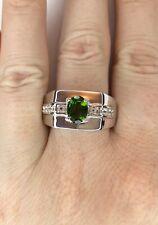 Chrome Diopside & Topaz Gemstone Ring, Size T/U, Gems Tv/ Gemporia