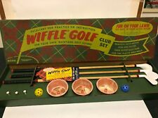 Rare Vintage 1970's Wiffle Golf Club Set Family Fun Sports Game Complete Mint