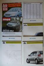 Prospekt Hyundai Getz, 1.2003, 46 S.+Daten+Zubehör+Händler + 2x Testsonderdruck