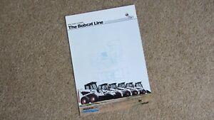 THE BOBCAT LINE SKIC STEER LOADERS BROCHURE B-1356/E/10M/03.89 Circa 1989