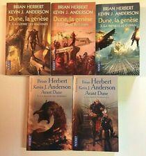 DUNE la GENESE 1 à 3 - AVANT DUNE 1 et 2 Herbert Anderson livre ROMAN SF