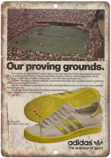 "Adidas Forest Hills Tennis Shoe Vintage Ad 10"" X 7"" Reproduction Metal Sign ZE58"