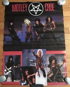 """Motley Crue 1983 Poster ORIGINAL Motley Crue Merchandise 20"""" X 28"""""""