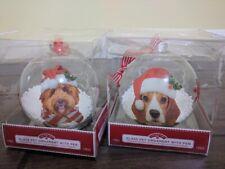 Christmas Glass Pet Dog Ornament Personalize Choice Poodle Golden Doodle Beagle