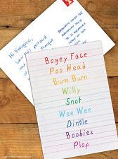 Brainbox Candy 'Bogey Face' Postcard Funny Comedy Humour Novelty Cheeky Joke