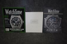 2014-2015 Collections, Watch Time Zenith Magazines Lot of 3 - Zenith Catalog