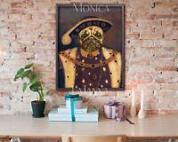 WELSH GIFT DICTION FUN Print Alsation Puggle Pug Labrador King Charles Frameless
