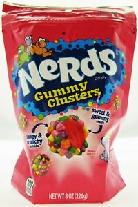 Nerds Gummy Clusters Chewy 8oz  Recloseable Bag Crunchy and Chewy Candy Candies