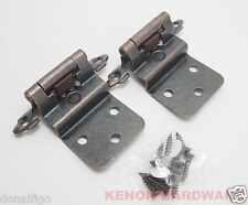 "25 Pairs (50pcs) Self Closing 3/8"" Inset Cabinet Hinges -Oil Brushed Bronze"