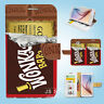 Samsung Galaxy S3 4 5 6 7 8 Edge Plus Note Flip Wallet Case Cover Chocolate S142