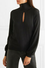 $1513 Fabulous TOM FORD Cutout Cashmere and Silk-Blend Turtleneck Sweater, NWT