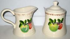 NEW WHITE APPLE SUGAR AND CREAMER SET Apples