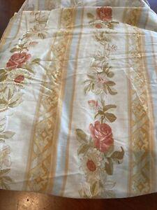 Ralph Lauren Rare cotton  Lambert Stripe Neutral Floral Flat Sheet - Queen