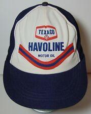 Old Vintage 1970s Texaco Havoline Motor Oil Snapback Trucker Hat Cap Made In Usa