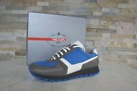 Prada Sneakers Gr 39 Halbschuhe Schnürschuhe Schuhe shoes grau-blau neu UVP 450€