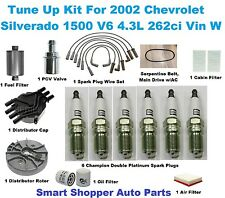 Tune Up Kit for 2002 Chevrolet Silverado 1500 Spark Plug, Belt, Air, Oil Filter