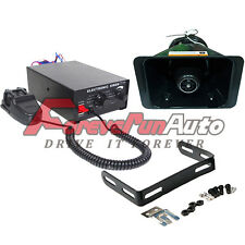 12V 100W Sirean System Vehicle Warning Horn Siren Kit with PA Loud Speaker New