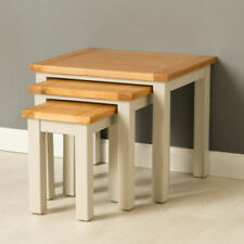 Wooden Contemporary 3 Piece Nested Tables