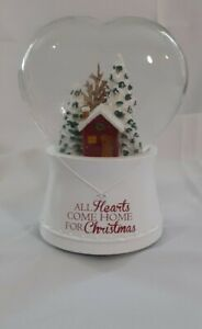 Water Globe All Hearts Come Home for Christmas