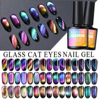 LILYCUTE Holographic Magnetic Cat Eye Soak Off UV Gel Polish Nail Gel Varnish