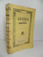 Compendio Delle Atti Amministrativi La Préfecture Del Dipartimento Meuse 1950