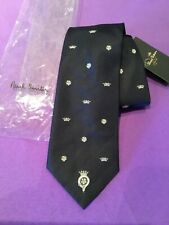 NEW Paul Smith Tie British Collection Silk Made in England Navy Crown Design