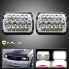7x6 Square LED Headlight Hi/Lo Beam Chrome Reflector Sealed Beam Replacement 2B