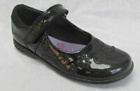 BNIB Clarks Girls Breena Love Black Patent Leather Lights School Shoes E/F/G/H