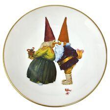 Vtg 1976 Rien Poortvliet Gnome Bliss Rubbing Noses 8.5 Fairmont Porcelain Plate