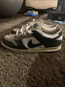 Nike 6.0 SB Dunk Low Mens White Green Snakeskin - 314142-007 - Size 11