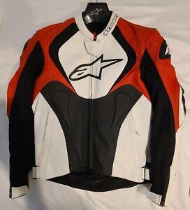 Alpinestars Jaws Airflow Perforated Leather Jacket Black/White/Red US 40/EU 50