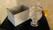 LALIQUE Frosted French ERMENONVILLE Hand Finished CRYSTAL ART VASE-BEAUTIFUL.