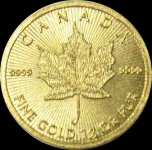 2018 GOLD CANADA 1 GRAM 999.9 GOLD 50 CENT MAPLE LEAF ROYAL CANADIAN MINT COIN