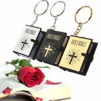 Miniature Christian Jesus Religious Paper Keyring Holy Bible Mini Keychain