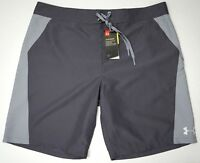NWT Under Armour Shorts Gray Loose Fit Grey Athletic Mens Size 32 40 Heat Gear