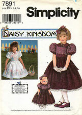 Simplicity Daisy Kingdom Child's Dress and Doll Dress Pattern 7891 5-8
