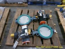 "Lot of (2), 10""  Butterfly Valves w/Actuators, UNUSED"