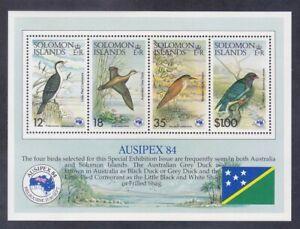 Solomon Islands 538a MNH 1984 Various Local Birds AUSIPEX Souvenir Sheet VF